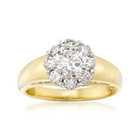 C. 1990 Vintage 2.00ct t.w. Diamond Engagement Ring in Gold. Size 5.5