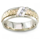 Two Tone Gold and diamond Wedding Ring