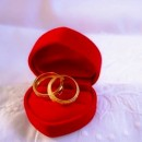 Wedding rings in red box - 15214205_s