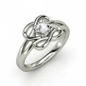 Knotted vines with round white sapphire