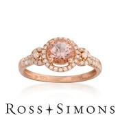 Morganite and diamond ring - promise rings - rings with love