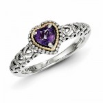 Amethyst-Heart-Ring-in-Sterling-Silver-with-14k-Gold