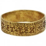 Antique Gold Ring c 1500 AD