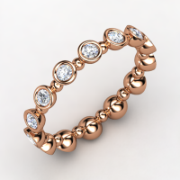 Seed &amp; Pod Eternity Band 14K Rose Gold Ring with Diamond