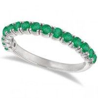 Emerald Semi Eternity Anniversary Band