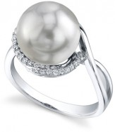South Sea Pearl and Diamond Summer Ring