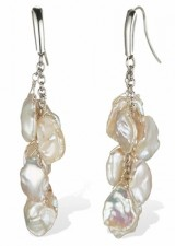 Keishi Fresh Water Pearl Earrings in Sterling Silver