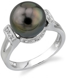 Tahitian- Black Pearl-and-Diamond-Nicole-Ring-