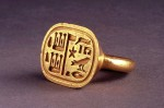 Egyptian ring - gold ring of Sheshonq