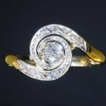 Late Victorian Art Nouveau Tourbillon Ring - ADIN BE