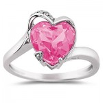 Rings with love - Promise Rings - Pink Heart Ring