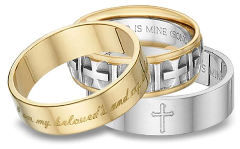 Rings with Love - Religious Jewelry - 3 rings